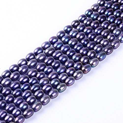 Ruilong 7-8mm AAAA Quality Oval Dhape Purple Natural Freshwater Pearl Loose Pearls Beads for Jewelry Making