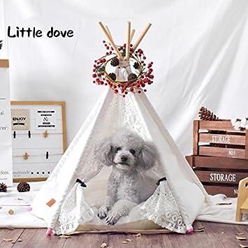 little dove Hunde Tipi Zelt Hause und Zelt mit Spitze für