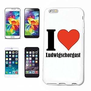 """cubierta del teléfono inteligente iPhone 5 / 5S """"I Love Ludwigschorgast"""" Cubierta elegante de la cubierta del caso de Shell duro de protección para el teléfono celular Apple iPhone … en blanco ... delgado y hermoso, ese es nuestro hardcase. El caso se fija con un clic en su teléfono inteligente"""