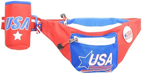 e8d2d9f8733 Amazon.com   Tipsy Elves LLC Red Patriotic USA Fanny Pack with Drink ...