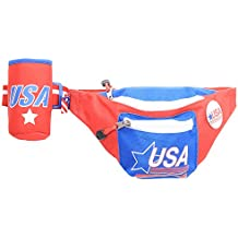 Red Patriotic USA Fanny Pack with Drink Holder