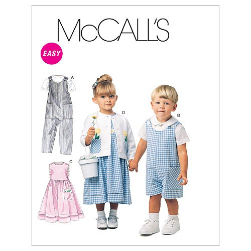 (McCall's Patterns M6304 Toddlers' Rompers in 2 Lengths, Dress, Jacket and Shirt, Size CB (1-2-3))