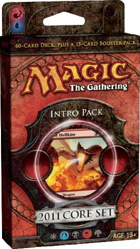 Magic the Gathering- MTG: 2011 Core Set M11 - Theme Deck - Intro Pack 4 - Breath of Fire (RED)