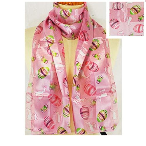 Fashion Scarf ~ Easter Theme ~ PINK ~ 13