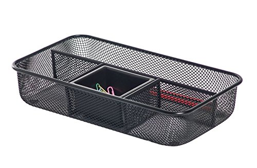 Brenton Studio Metro Mesh Small Drawer Organizer, Black ()