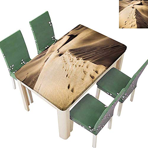- Printsonne Polyester Tablecloth Sandy Dunes in Famous Natural Maspalomas Beach on Gran Canaria Spain Spillproof Tablecloth 50 x 72 Inch (Elastic Edge)