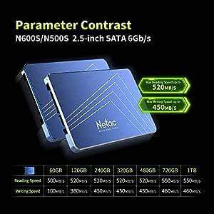 Aoile Netac N600S - Disco Duro Interno SSD (TLC, 2,5