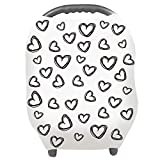 Nursing Cover - Breastfeeding Cover Carseat Canopy for Baby Infant - Car Seat Covers for Babies by YOOFOSS (White)