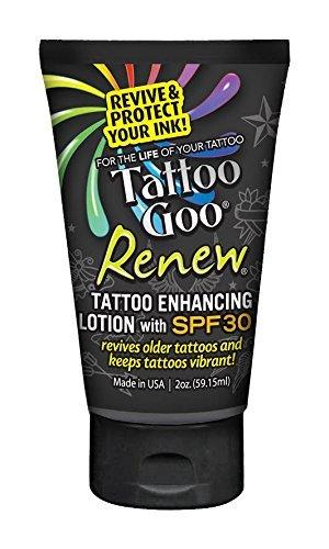 Tattoo Goo Renew Enhancing Lotion SPF 30, 2 Ounce