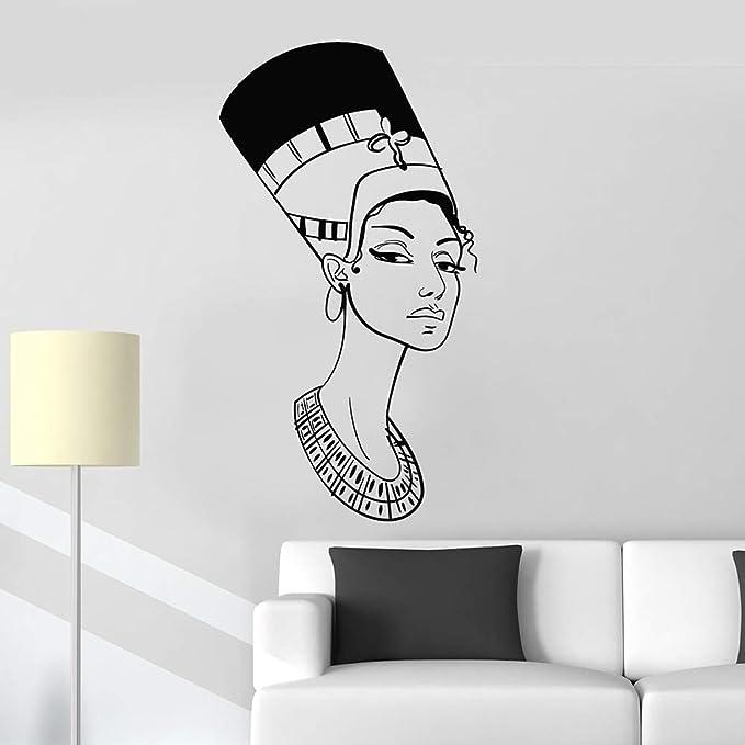 haochenli188 Retrato Hermoso Nefertiti Reina egipcia Egipto Vinilo ...