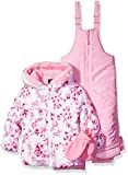 Rothschild Little Girls' Toddler Floral Print 2 Piece Snowsuit, Pink, 2T