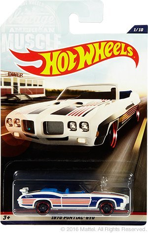 Hot Wheels - 2017 Vintage American Muscle - 1970 Pontiac GTO 1/10