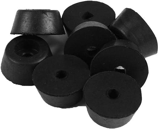 Sourcingmap 25 x 20 x 12 mm armarios 8 Piezas de Almohadillas de Goma para Amplificador de Mesa de Muebles Pata de Pata de Armario