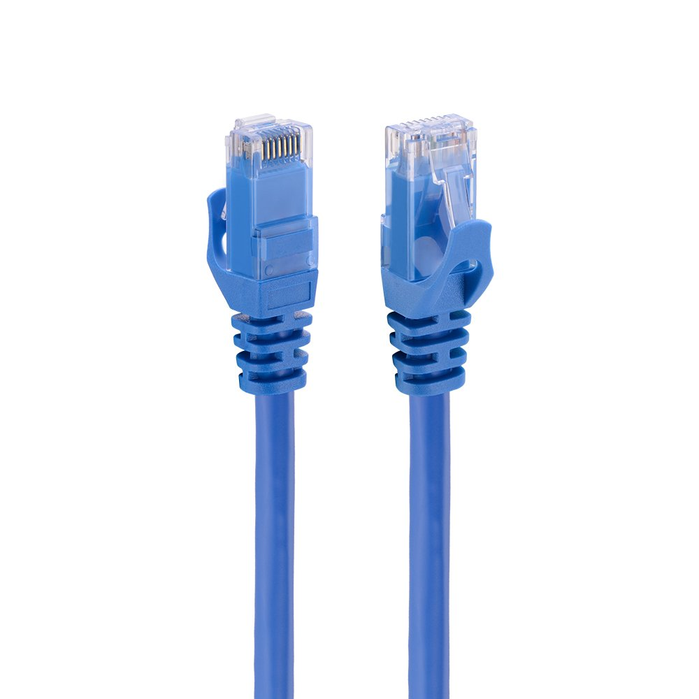Ethernet Cable CAT 6 25 FT Blue - Fast Network Patch Cord UTP Bare Copper Wire Lan Cable for Modern Router Xbox PS3 PS4 (25 FEET/7.5 Meter, Blue) by Ealona