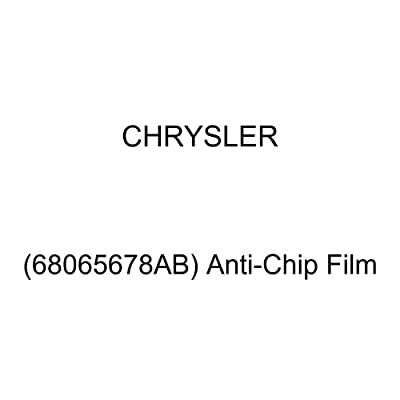 Chrysler Genuine (68065678AB) Anti-Chip Film: Automotive