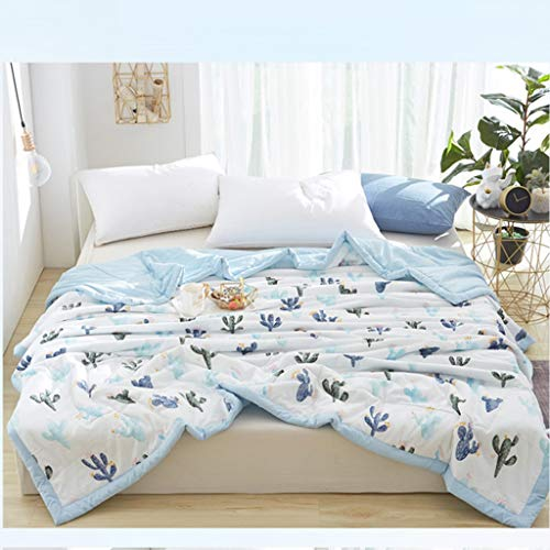 INS Style Bedding, Washed Cotton Air Conditioner Quilt Velvet Padded Core Suitable for Car and Sofa Blanket,B,200X230cm - Ins Air Core