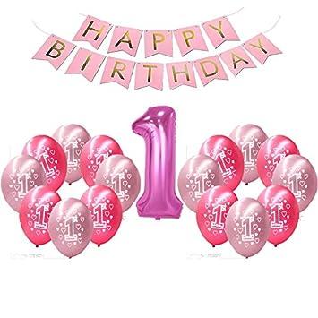 Buwant Erste Geburtstag Dekorationen Für Mädchen 1 Baby Mädchen