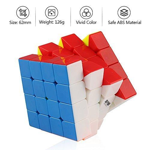 D FantiX Qiyi Wuque 4x4 Speed Cube Stickerless Magic 4x4x4 Puzzle 62mm Cheap