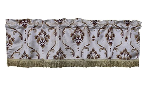 Violet Linen VL-68837-BOUTIQUE-VAL-BUR Vintage Collection Luxurious Boutique Window Valance, 60