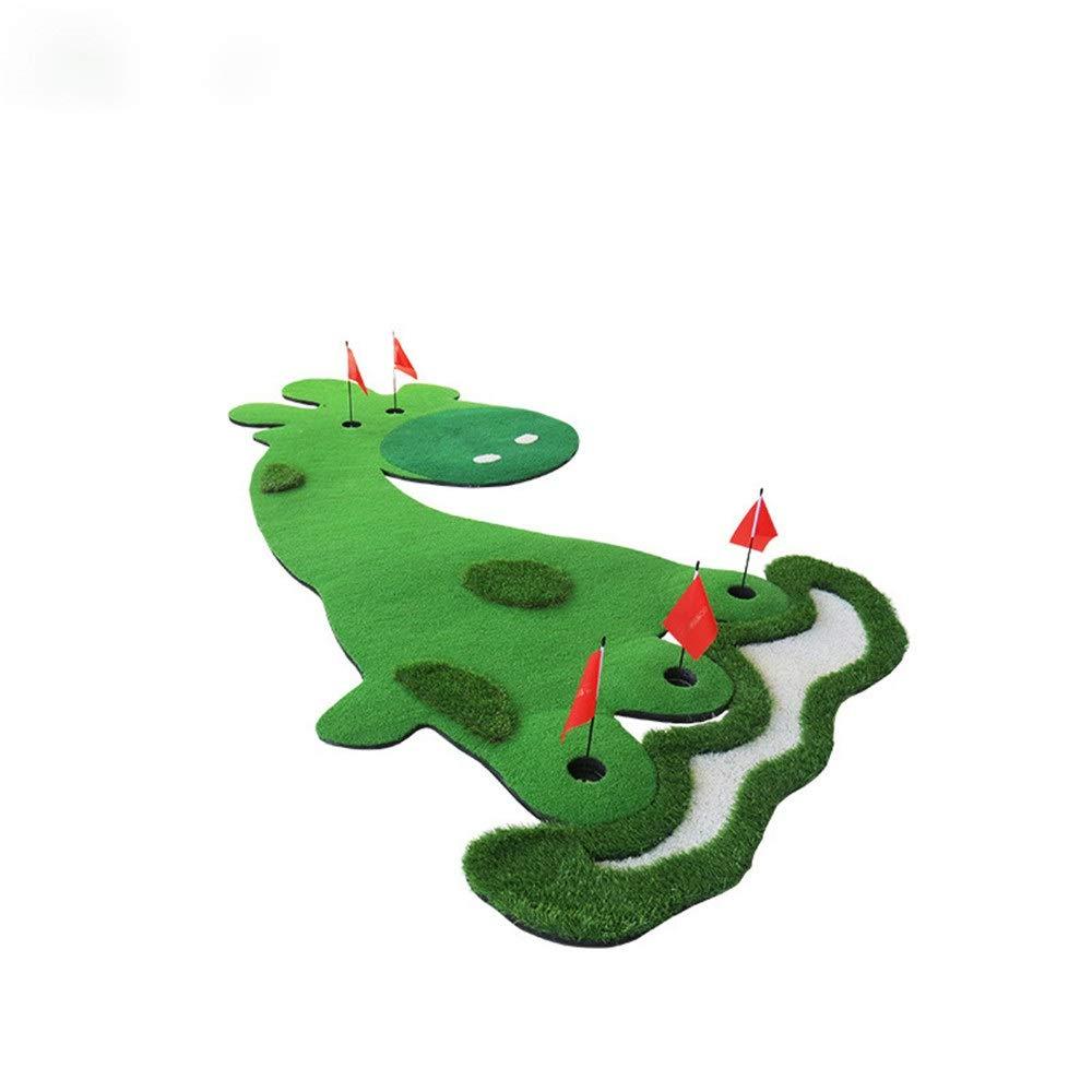 インドアマットゴルフミニアーティフィシア 屋内ゴルフ子供の練習トレーナー家族ミニグリーンフェアウェイトレーニングセットポータブルゴルフパッティングトレーニングマットエイズ子供のため サーフェスフラッグアクセサリー (色 : 緑, サイズ : 363cm×198cm) B07TH2PXP6 緑 363cm×198cm