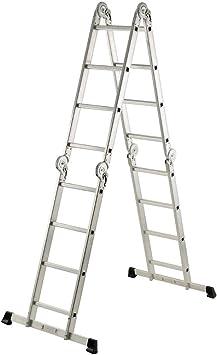 Gierre M257107 - Escalera multiposicion aluminio 4x4 al910: Amazon.es: Bricolaje y herramientas