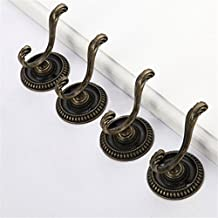 10Pcs Vintage Home Bedroom Heavy Duty Single Hook Hat Coat Clothes Towel Wall Door Hanger Hooks Curtain Hangers