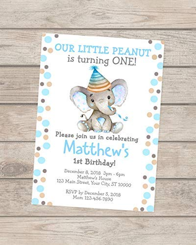 Image Unavailable Not Available For Color Elephant Birthday Invitations Boy