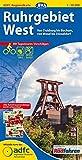 ADFC-Regionalkarte Ruhrgebiet West mit Tagestouren-Vorschlägen, 1:50.000, reiß- und wetterfest, GPS-Tracks Download: Von Duisburg bis Bochum, von Wesel bis Düsseldorf (ADFC-Regionalkarte 1:50000)