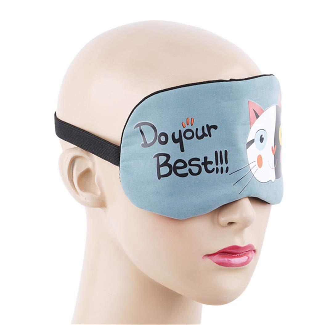 LZIYAN Sleeping Mask Cartoon Cat Sleep Eye Mask Breathable Travel Shade Cover Rest Relax Sleeping Blindfold Eye Patch,Blue by LZIYAN (Image #4)