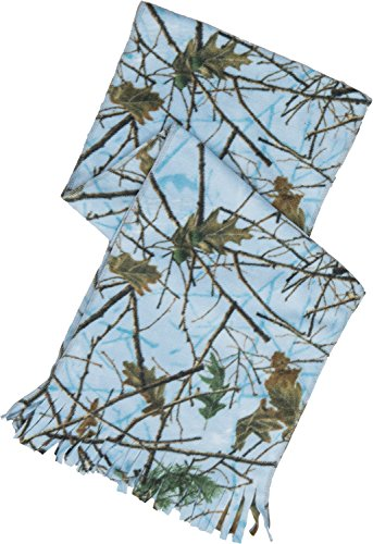 Trail Crest Women Soft Microfleece Camo Hunting Gift Scarf and Glove Set (Blue Forest)