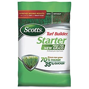 Scotts Turf Builder Starter Food for New Grass, 15 lb. - Lawn Fertilizer for Newly Planted Grass, Also Great for Sod and Grass Plugs - Covers 5,000 sq. ft.