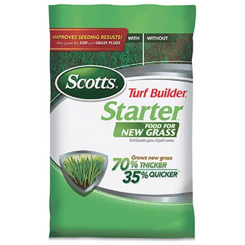 Scotts Turf Builder Starter Food for New Grass - 5,000 Sq. Ft. | Lawn Fertilizer For Newly Planted Grass | Also Great For Sod & Grass Plugs | For Use on All Grass Types ()