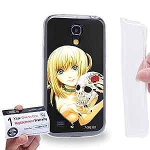 Case88 [Samsung Galaxy S4 Mini] Gel TPU Carcasa/Funda & Tarjeta de garantía - Death Note Misa Amane 1214