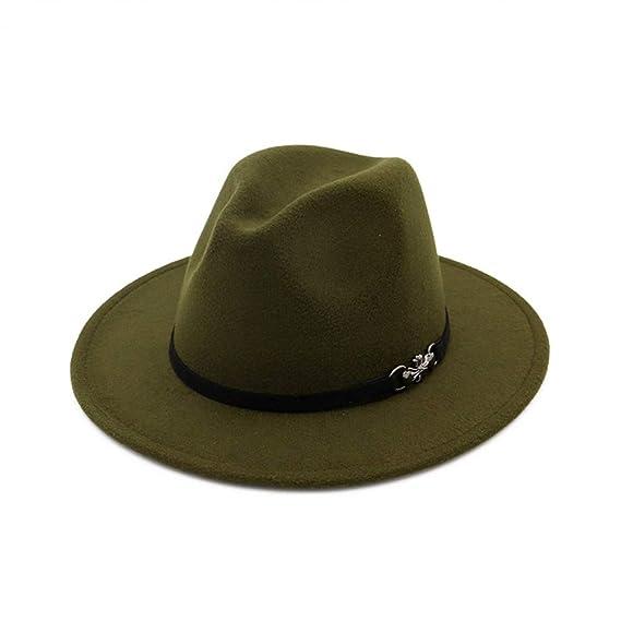 HYXUM Womens Felt Hat for Women Ladies Hats Style Fedora and borsalino  Autumn Winter Jazz Hat Flat Brim Bowler Hat Church fe99b8a18503