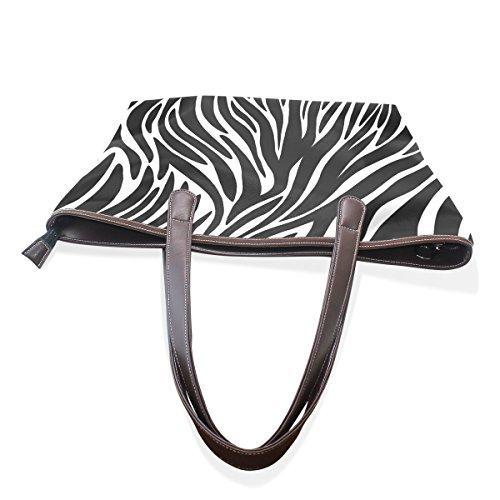 Bandoulière 003 Coosun Grand tout À Sac Zebra Fourre Cm L Multicouleur 33x45x13 Cuir Poignée Sacs Textures Pu En 11xarPw