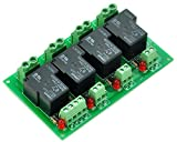 ELECTRONICS-SALON Coil 24V Passive 4 Channel SPST-NO 30A 30Amp Power Relay Module.
