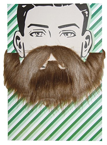 Halloween Facial Hair - Self Adhesive Beard and Mustache Halloween Costume Accessory (Hipster Beard)