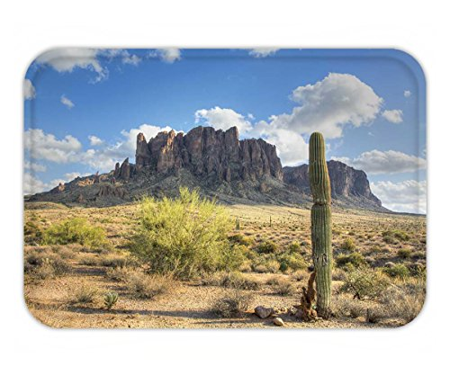 Beshowere Doormat famous superstition mountain in arizona framed by a lone saguaro cactus shows the beauty of - Predator The Pictures Of Show Me