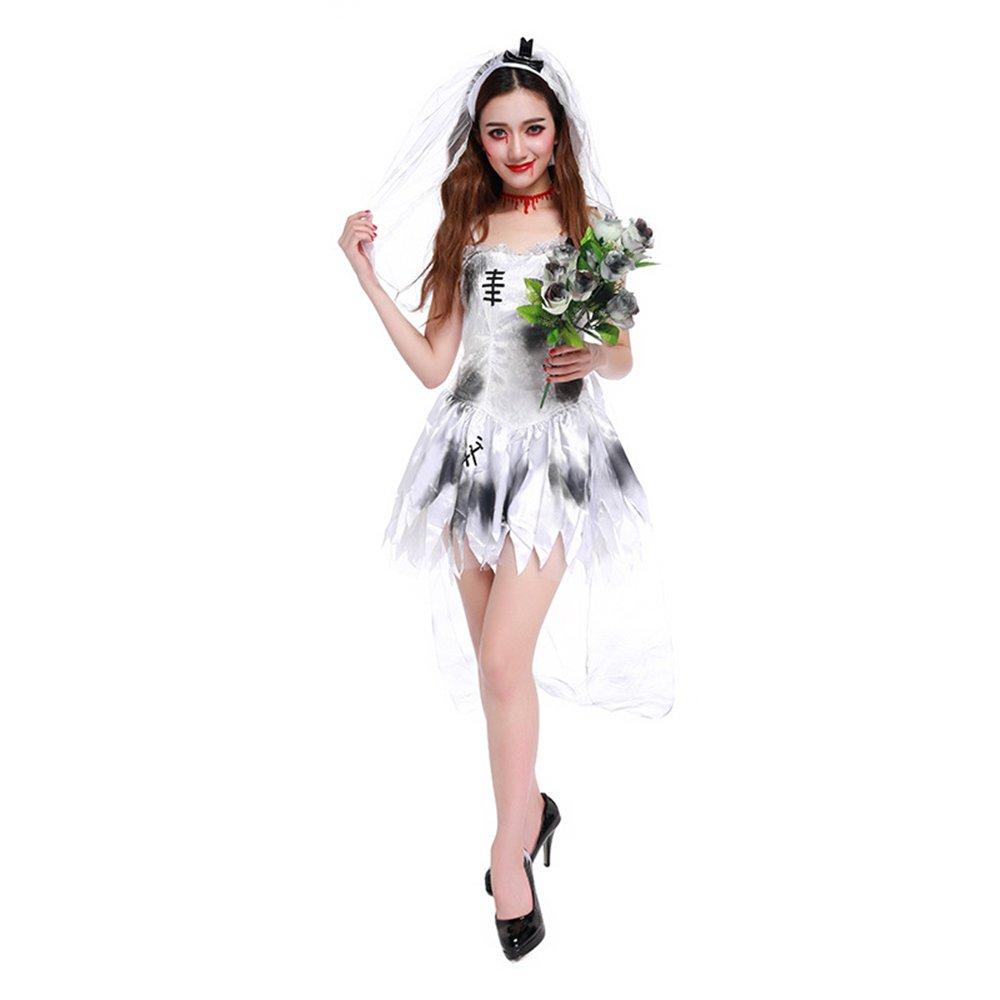 QAR Halloween Cosplay Ghost Braut Hölle Göttin Zombie Spiel Uniform Damenbekleidung (größe : L)