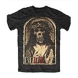 Skygraphx Mens Believe T-Shirt XXX-Large Black