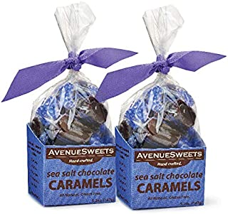 product image for AvenueSweets - Handcrafted Individually Wrapped Soft Caramels - 2 x 5.2 oz Boxes (Sea Salt Chocolate)
