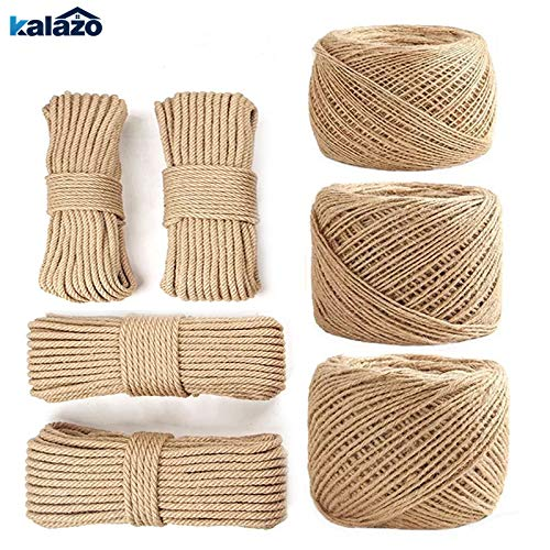 FINCOS 1pc 100meter 1/2/3/4/5/6/8/10mm Diameter Hemp Rope Twisted Cord DIY Handmade Tying Thread Cord Arts Craft Supplies - (Color: 10mm) by FINCOS (Image #6)