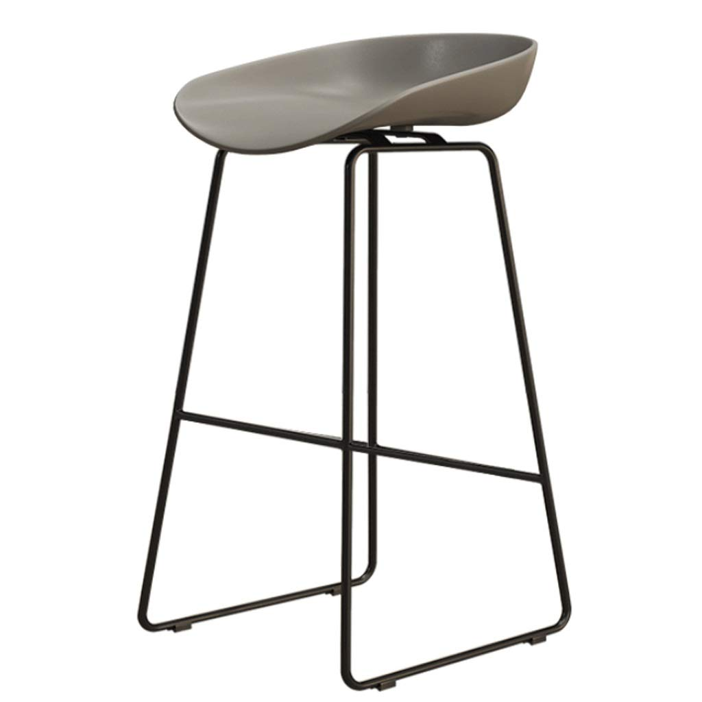 J Sitting height 65CM Iron High Stool Bar Chair Restaurant Counter Chair Cafe Metal Chair Modern Minimalist Home backrest high Chair (color   C, Size   Sitting Height 45CM)