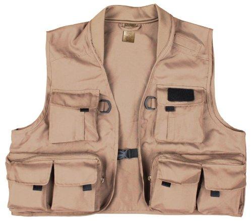 Master Sportsman North Fork Fishing Vest (Khaki, Large)