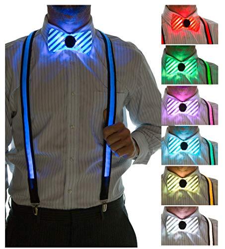 Led Bow Tie - Neon Nightlife Men's LED Suspenders &