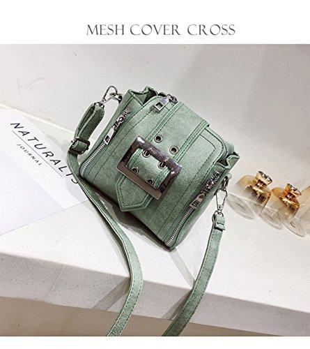 Vintage Fashion Damen Schulter Diagonal Paket Matte Leder Kleine Tasche Handtasche Green U65ruHqtrj