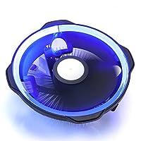 Radiatore GOLDEN FIELD Lighting Ray Heatsink & Fan Low Noise Blue Halo LED CPU Air Cooler Radiatore per Intel e AMD
