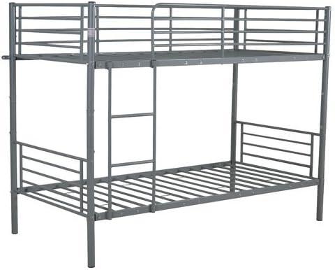 Manhattan moderno estilo único marco de cama de litera con escalera integrado (material: Metal, requiere montaje): Amazon.es: Hogar