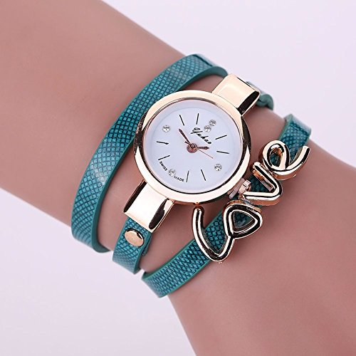 New Mens Watches, Fashion Women Watch Fashion, Leather Crystal Bracelet Ladies Quartz Analog Wrist Watch HOT, The precise surface decent watch is very charming for all occasions (Shipping faster than the time specified.) BLUE