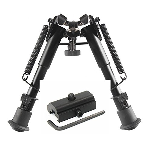 Klau 9-13 Inches Adjustable Height Spring Return Tactical/Sniper Profile Hunting Rifle Bipod Sling Swivel Mount with Picatinny Mount